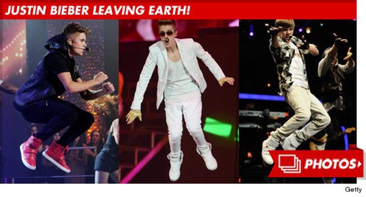 Justin Bieber Leaving Earth!