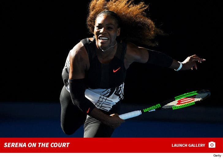 Serena Williams on the Court