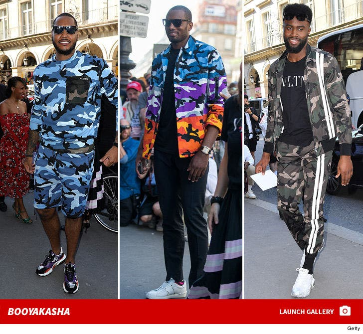 NBA Stars Arrive to Valentino Fashion Show in Paris