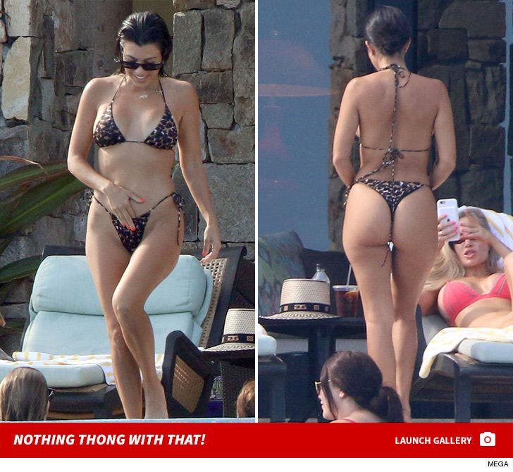 Kourtney Kardashian Shows Off Bootyful Bikini In Mexico