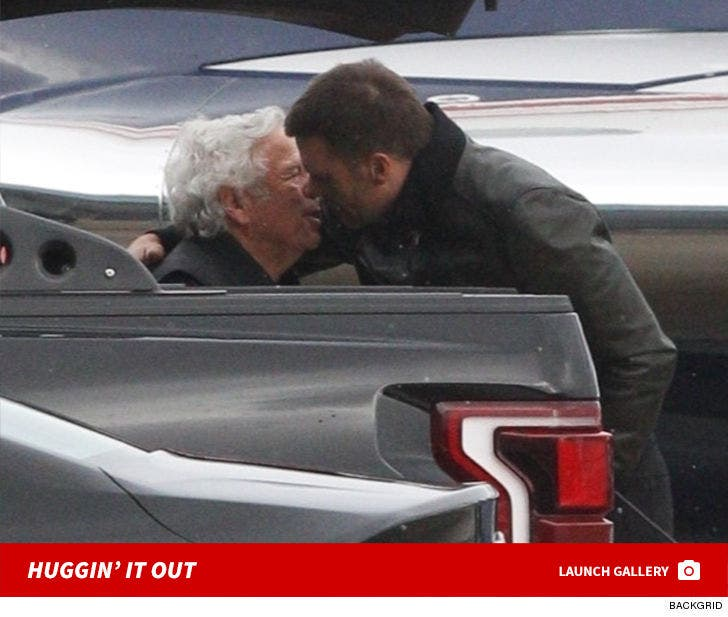 Tom Brady And Robert Kraft Hug It Out