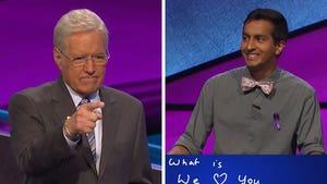 Alex Trebek Gets Emotional When Contestant Answers 'We Love You, Alex'