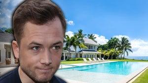 'Rocketman' Star Taron Egerton Celebrates Birthday at Luxury Villa