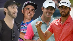 Rory McIlroy, Dustin Johnson  Playing 2 vs. 2 Game on TV, No Caddies Allowed!