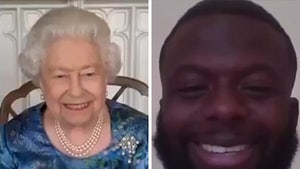 Queen Elizabeth Busts Out Rare Royal Laugh During Chat with Jamaican Bobsledder!
