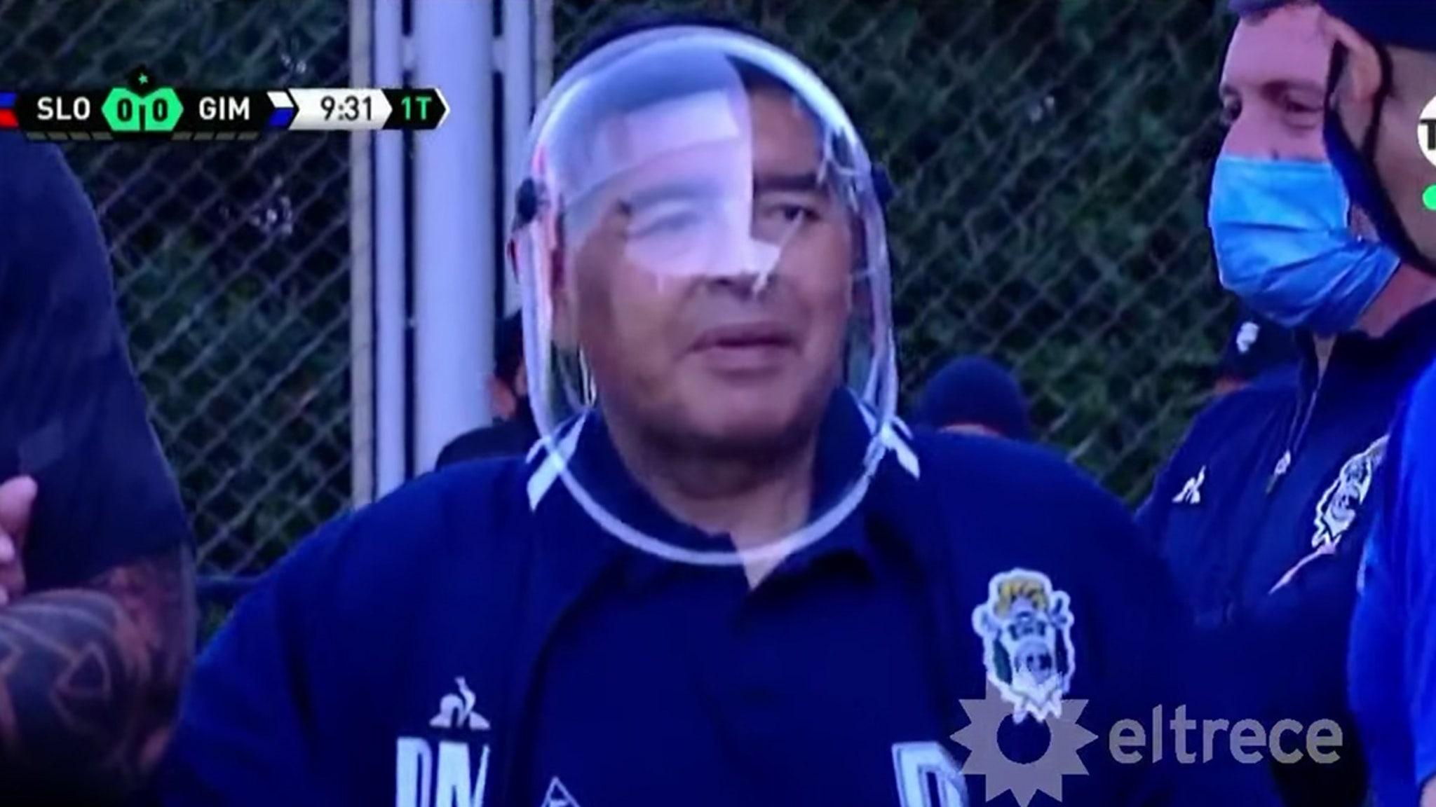 Diego Maradona Slams Critics ... Stop Mocking My COVID Shield!!!