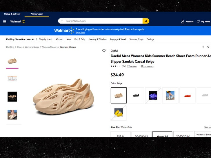 fake yeezys sold at walmart