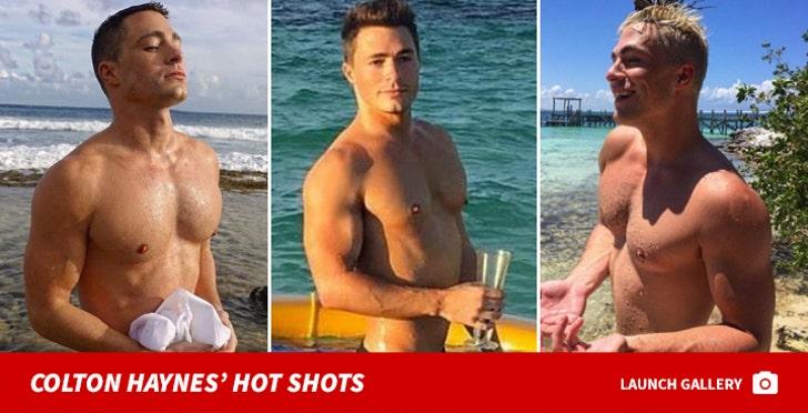 Colton Haynes' Shirtless Shots