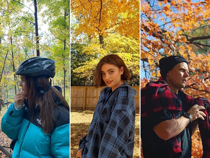 Celebs Fallin' It Up With Foliage