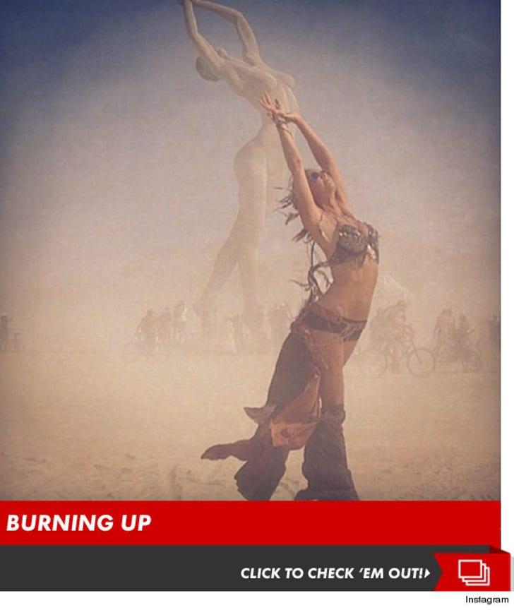 Stacy Keibler's Burning Man Festival Photos