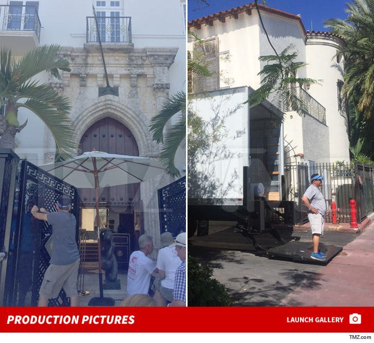 'American Crime Story' -- Production at the Versace Mansion