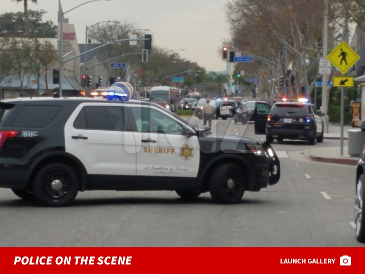 Usher And Rich The Kid Robbery -- Police On The Scene