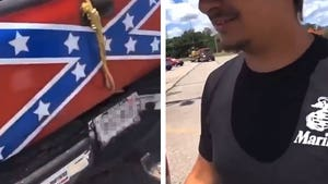 Racists Display Noose with Confederate Flag On Truck