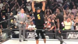 Giannis Antetokounmpo Crashes Ring At AEW Event, Fans Go Nuts!