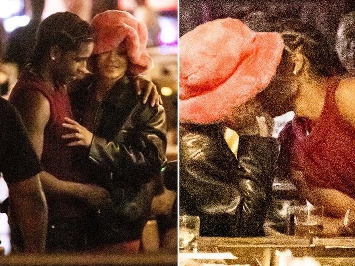 Rihanna and A$AP Rocky Play PDA At NYC Arcade