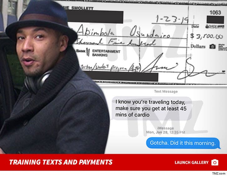 Jussie Smollett's Texts and Payments