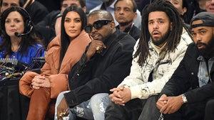 Kim and Kanye Courtside for Kobe Bryant Tribute at NBA All-Star Game