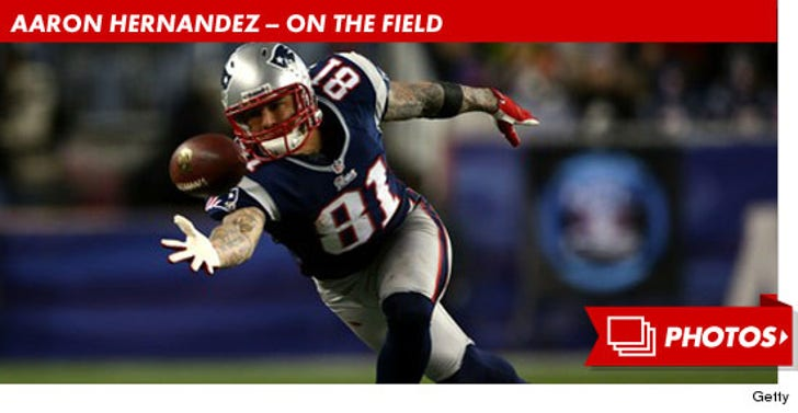 Aaron Hernandez -- On the Field