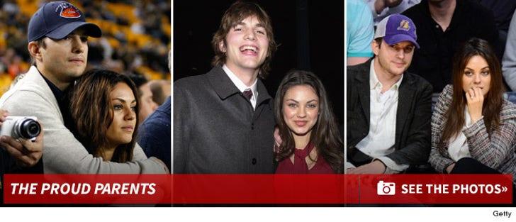 Mila Kunis & Ashton Kutcher -- The Happy Couple
