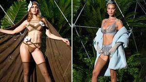 Gigi & Bella Hadid Model Rihanna's Savage X Fenty Lingerie at NYFW