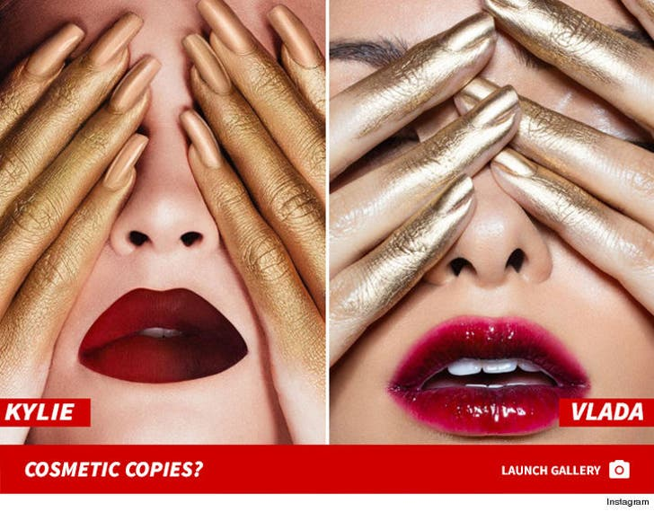 Kylie Jenner and Vlada Lip Kit Art -- Cosmetic Copies?