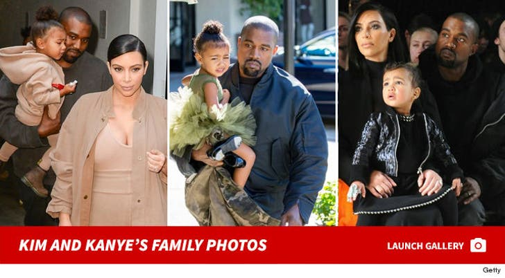 Kanye West and Kim Kardashian's Family Photos