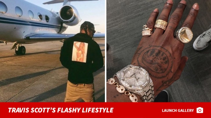 Travis Scott's Flashy Lifestyle