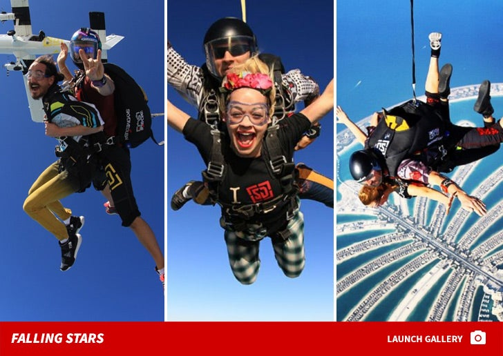 Skydiving Celebs -- Catch A Falling Star!