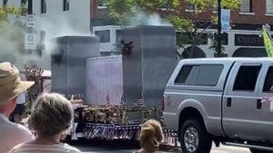 9/11 Parade Float with Models of Twin Towers with Billowing Smoke Triggers Outrage