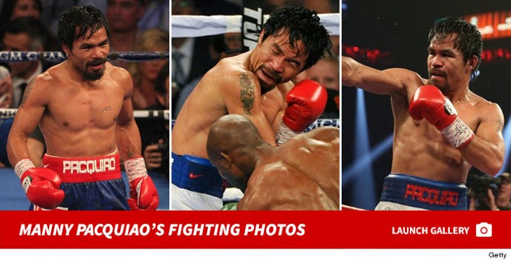 Manny Pacquiao's Fighting Photos