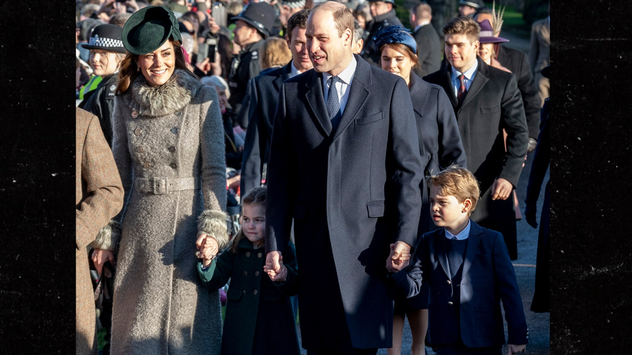 Prince William, Kate, George and Charlotte Celebrate Christmas in Church