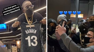 Bobby Shmurda Gets VIP Treatment at Nets Game & Jersey from James Harden!