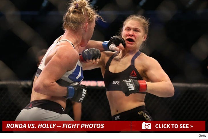 Ronda Rousey vs. Holly Holm -- The Fight Photos