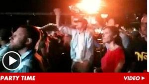 Ashton Kutcher -- Fist-Pumping After Demi Moore Emergency