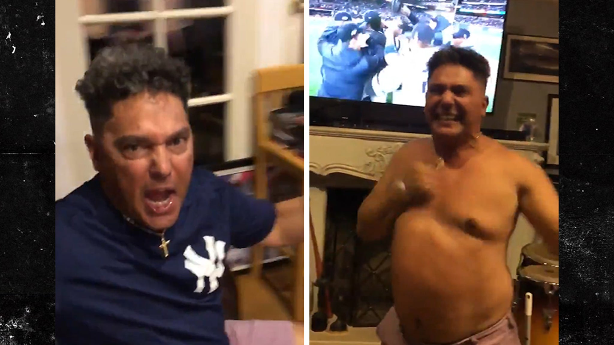 Nick Turturro Tears Off Shirt and Breaks Out the Broom After Yankees Sweep!