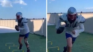 Tom Brady Takes Workout To Jeter's Backyard After Tampa Park Snafu, Full Pads!