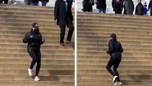 Vice President Kamala Harris Runs Stairs at Lincoln Memorial