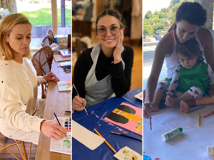 Celebs Painting At Home