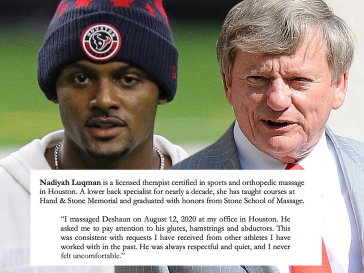 18 therapists voice support for Deshaun Watson