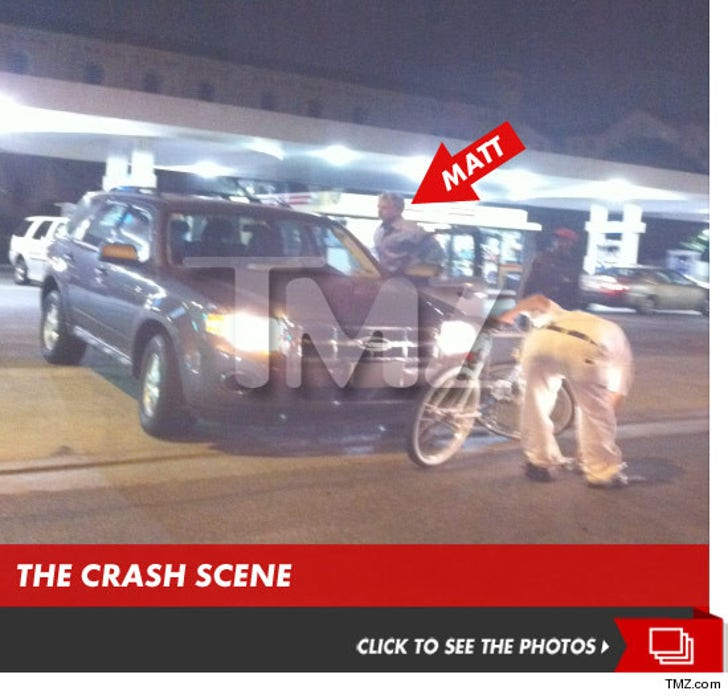 Matt Barkley -- USC Star in Car vs. Bicycle Crash