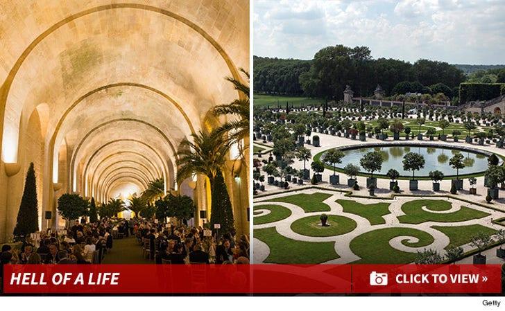 Kim K's Wedding Garden -- Versailles Orangerie