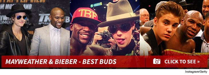 Mayweather and Bieber -- Best Buds