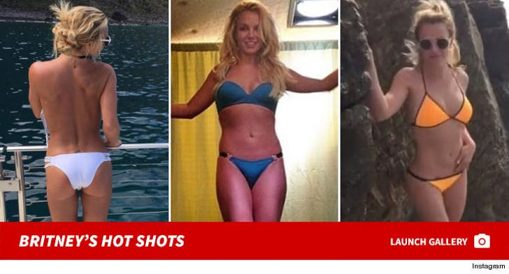 Britney Spears Strikes Yoga Poses In Bikini Post-Facility