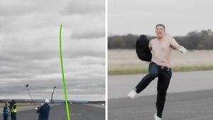 Pro Golfer Hits Long Drives Into Speeding Car, Epic Shirtless Celebration!