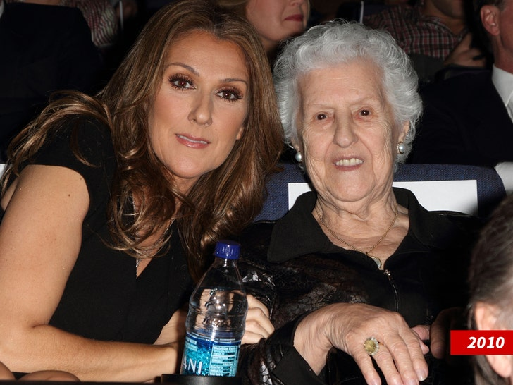 Celine Dion is 'doing okay' following her mother's death