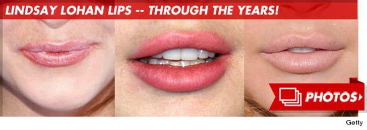 Lindsay Lohan's Lips -- Through the Years