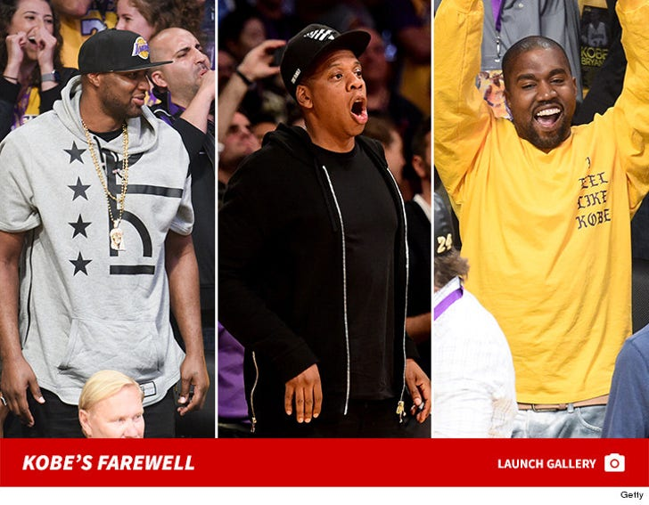 Celebs At The Staples Center For Mamba Day
