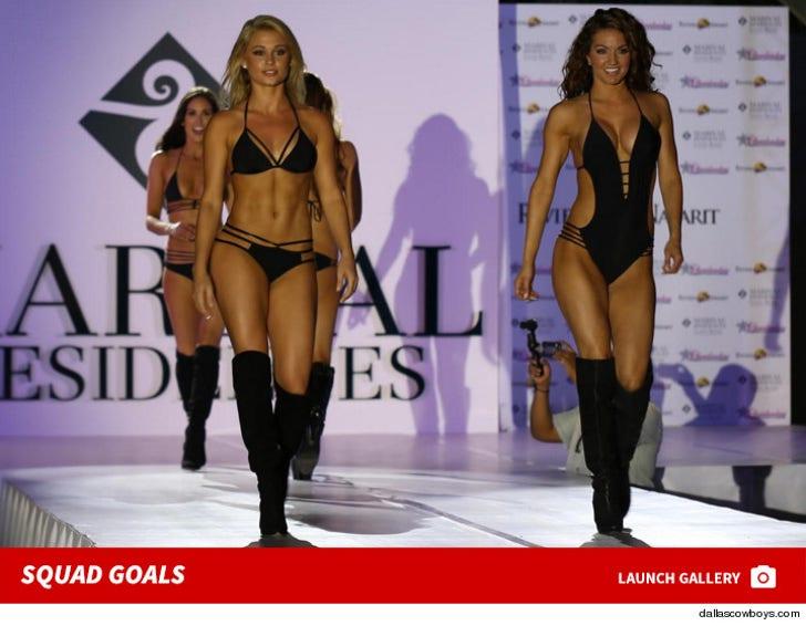 Cowboys Cheerleaders -- Bikini Fashion Show