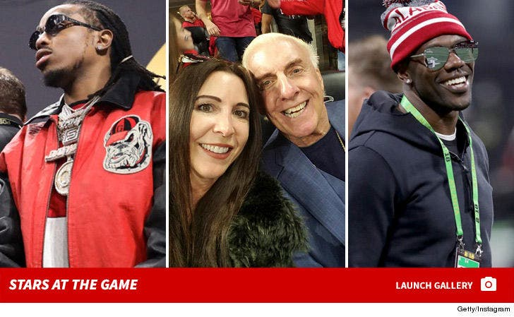 NCAA National Championship Game -- Celebs at the Game