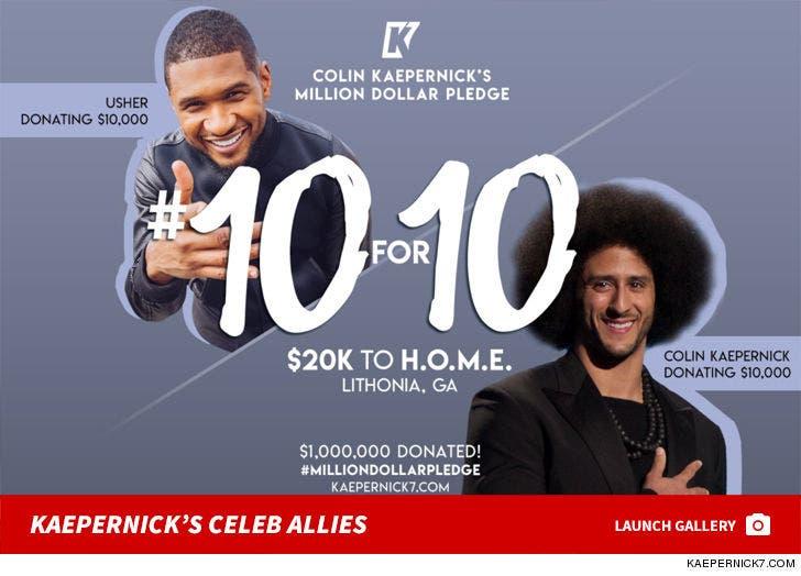 Colin Kaepernick's 10 For 10 Pledge Flyers